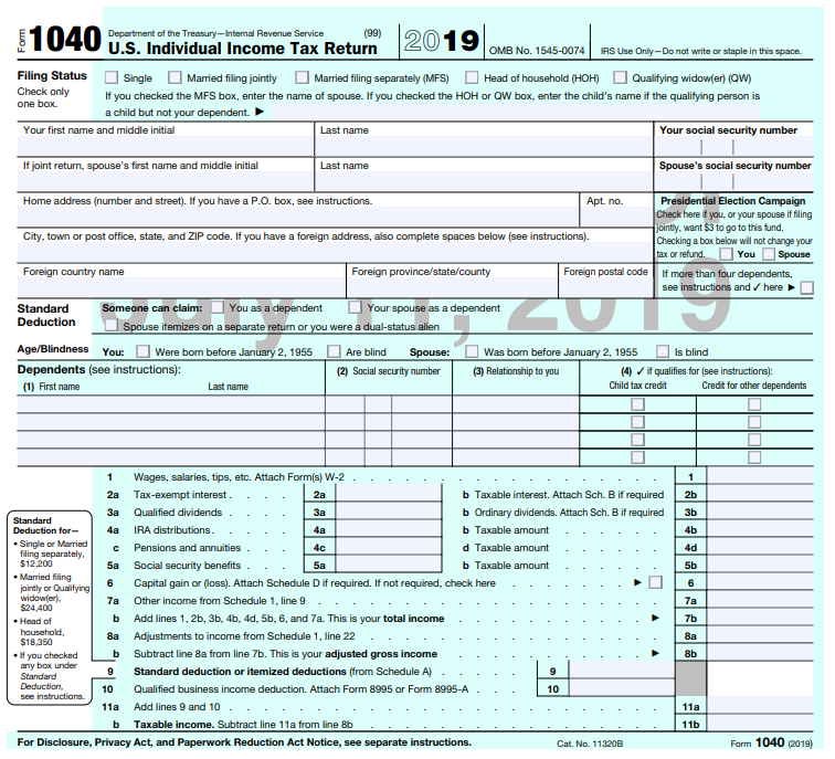 form 1040 page 1  Draft Form 16